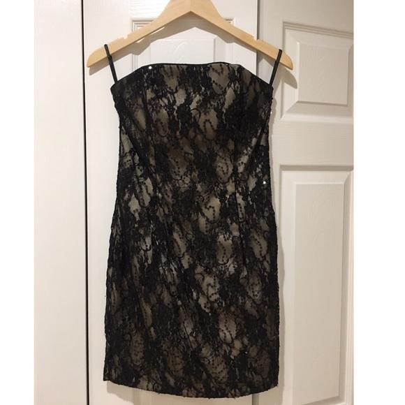 Jessica McClintock Dresses & Skirts - Jessica McClintock Evening Black Mini Sequin Dress